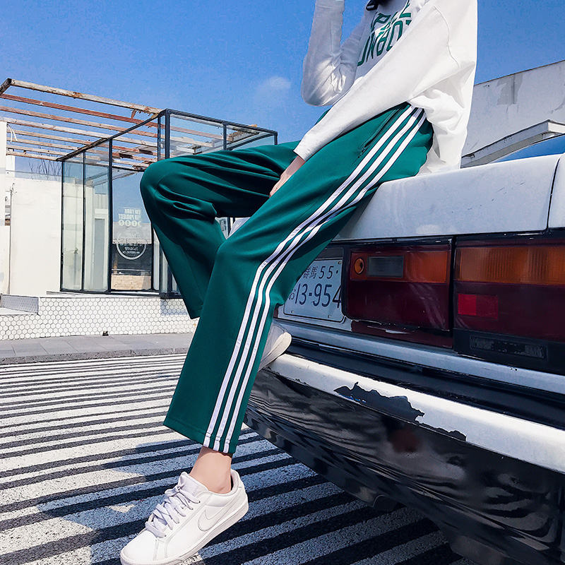 Autumn Joggers Harem Pants Hip Hop Casual Large Size Loose Beam Legs Solid Color Ankle-Length Pants Women Couple Harajuku Pants