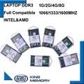 Free Shipping 2GB 4GB 8GB DDR3 PC3 8500 1066MHz DDR3 PC3 10600 1333Mhz DDR3 PC3 12800 1600MHz 204pin Sodimm laptop memory Ram