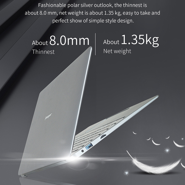 13.3 inch 6GB 64GB eMMC laptop Jumper EZbook X3 notebook IPS display Intel Apollo Lake N3350 2.4G/5G WiFi with M.2 SATA SSD slot 4