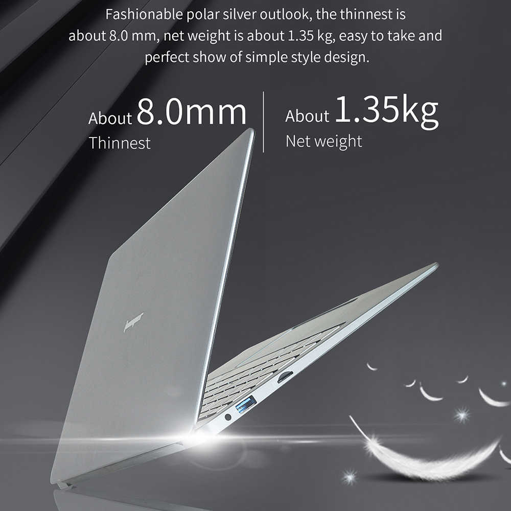 13.3 inch 6GB 64GB eMMC laptop Jumper EZbook X3 notebook IPS display Intel Apollo Lake N3350 2.4G /5G WiFi met M.2 SATA SSD slot