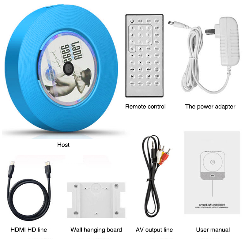 Настенный Bluetooth CD плеер портативный динамик выдвижной переключатель с дистанционным динамиком fm радио USB привод CD DVD VCD WMA AVI плеер - 6