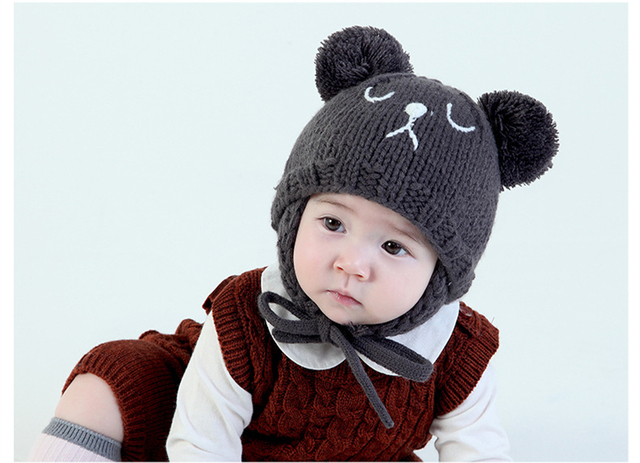 High Quality Baby Winter Warm Hat Boy Children Toddler Caps Ear Thick Wool  Girl Hats Beanie Animal Cute Boys Girls Cap 056c0371ee45
