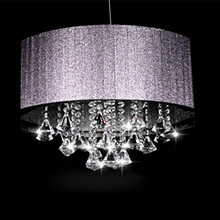 Creative personality Cloth oval K9 crystal lustre luminaria E14 light Living room room aisle Chandeliers(China)