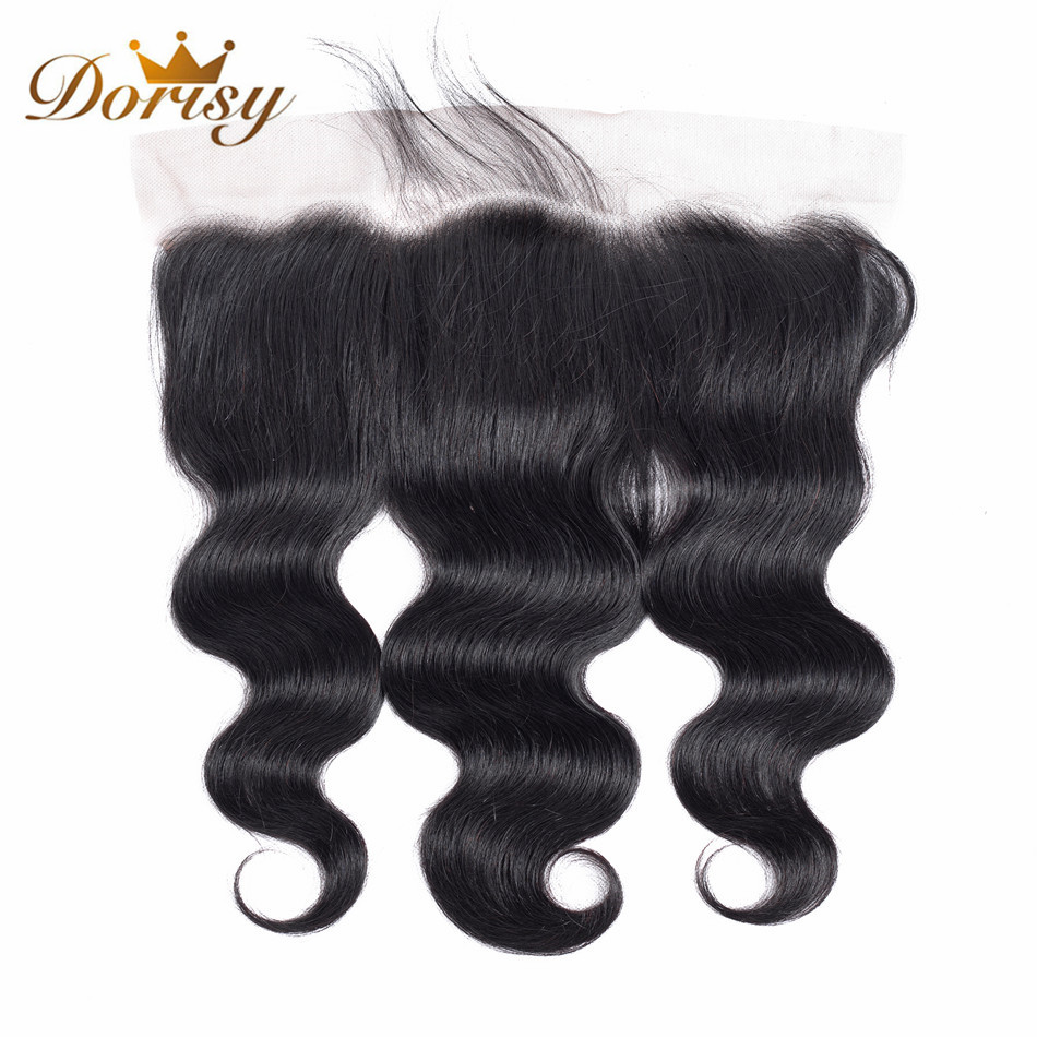 Brazilian Body Wave Lace Frontal Closure Human Hair Ear To Ear 13x4 Lace Closure Natural Color Non Remy Hair Frontal Closure