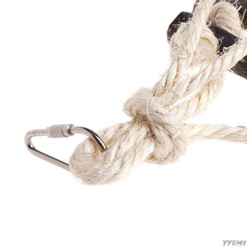 Naturals дерева веревку Висячие лестница птица клетка с попугаем игрушка Y110-Dropshipping