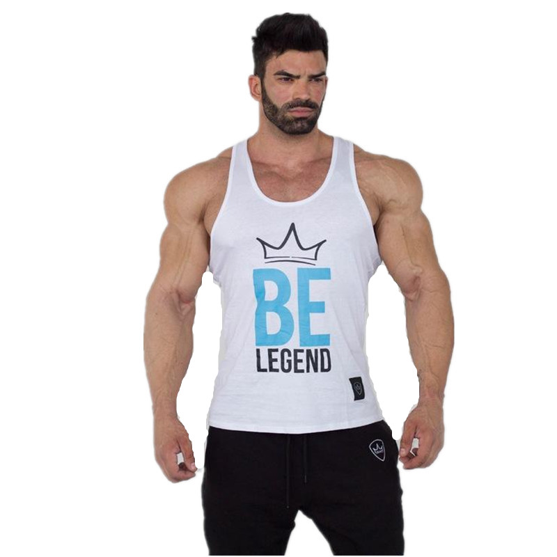 39fb2ef621da1 NANSHA New Summer Fashion design Men Tank tops strong printed hipster  Bodybuilding Stringer Vest White