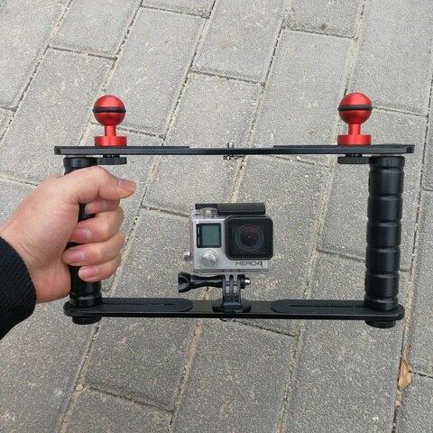 Subaquática de Mergulho Montar a Bandeja para Sony Câmera e Mini Handheld Scuba Diving Gopro Sjcam Action Camcoder