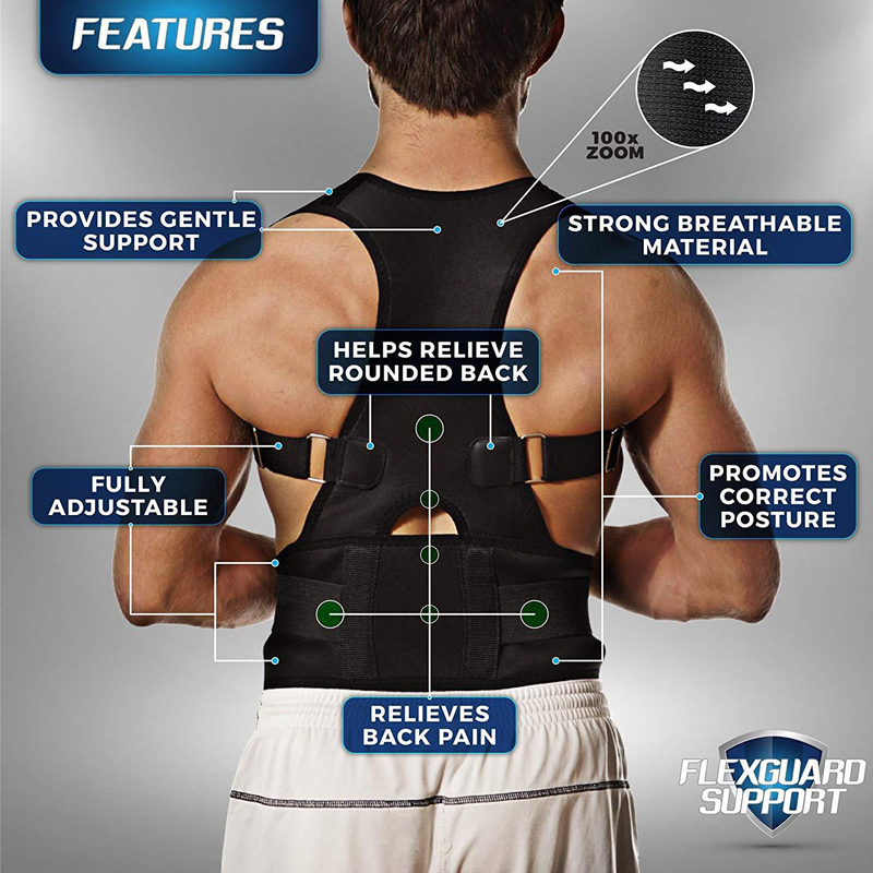 StandStraight™ By Yosyo Adjustable Back Posture Corrector - Hellopenguins