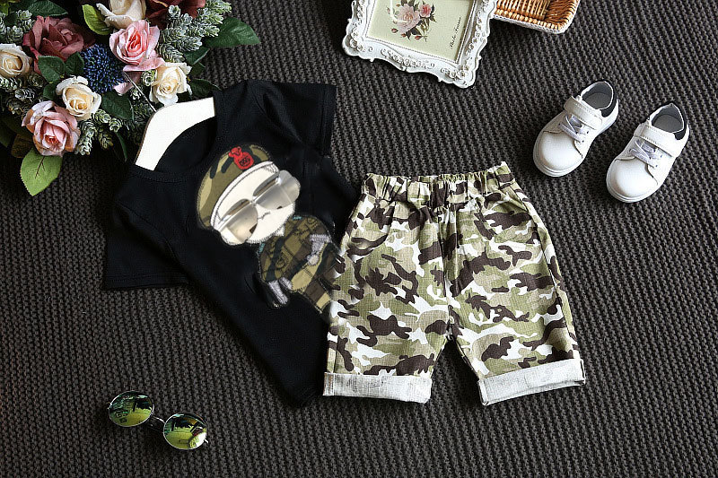 Summer Children Boy Clothes Sets Kids 2pcs Short Sleeves T-Shirt - Children's Clothing - Photo 4