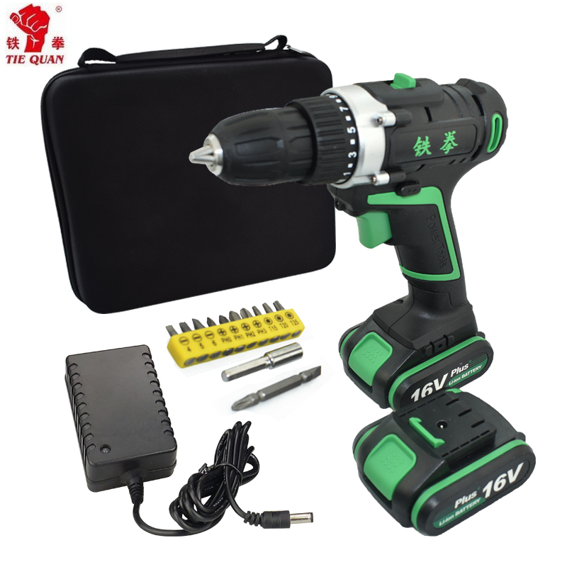 16V Power Tools Electric Screwdriver Drill Cordless Drill Mini Erill Electric Erilling Battery Screwdriver Mini Woven Bag Bit