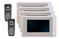 7 Inch Metal 4LCD Monitor Video Door Phone Wired Intercom System