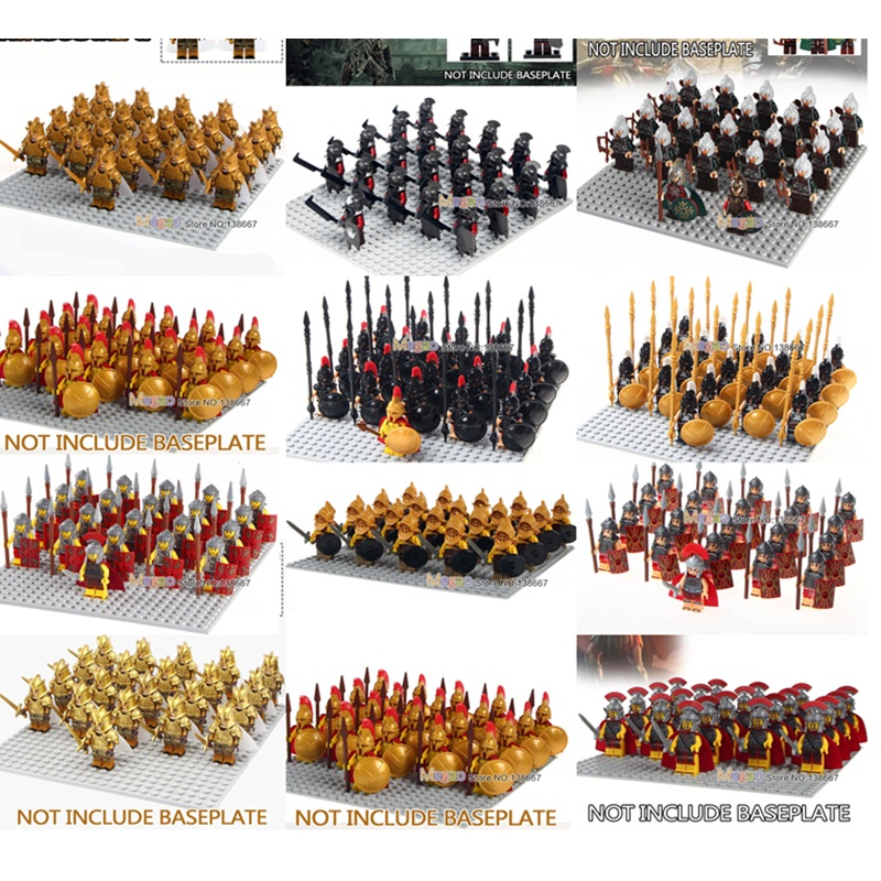 Constructive 21pcs/ Legoings Medieval Castle Knights Sparta With Cape Roman Soldiers Rome Fighters Building Block Figures Children Toys Gift Blocks