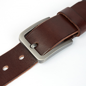 Image 3 - Medyla天然皮革男性ベルト品質素材頑丈なスチールバックル革ベルトのための適切なジーンズカジュアルパンツ