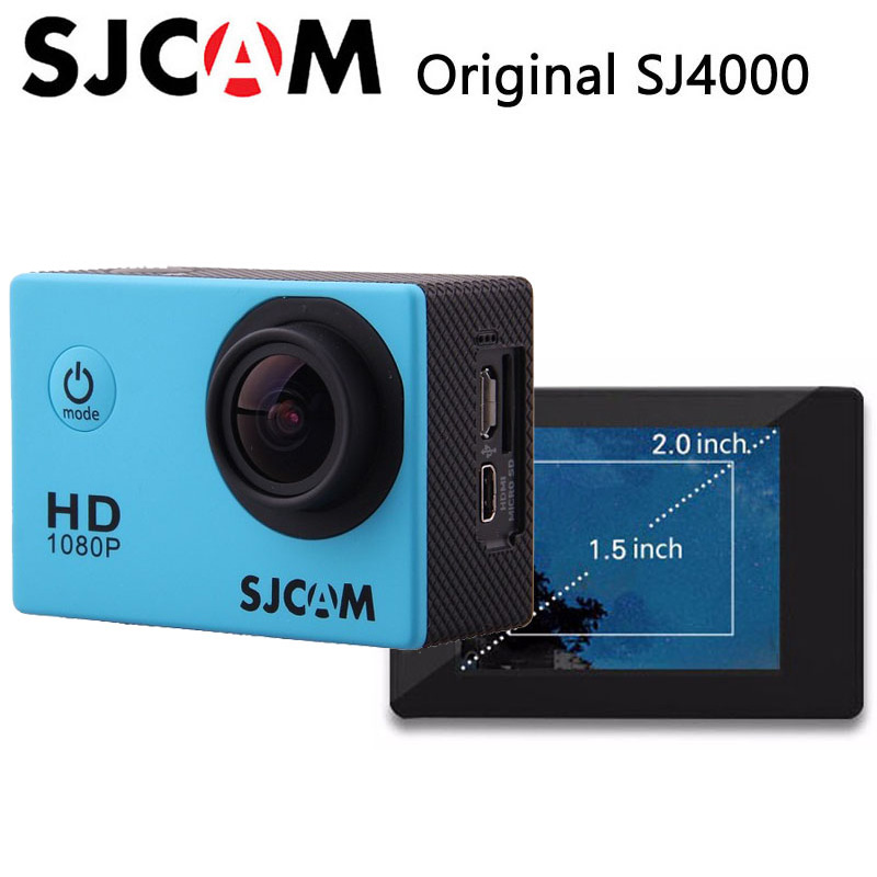 Original SJCAM SJ4000 Action Camera Sports DV 2.0 inch Diving 30M Waterproof Extreme Helmet mini Camcorder SJ 4000 Cam HD 1080P цена