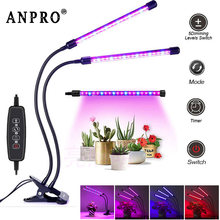 Anpro LED Grow Light 5V USB Plant Growth Lamp With Timer For Vegetable Flower Hydroponics Plant Greenhouse(China)