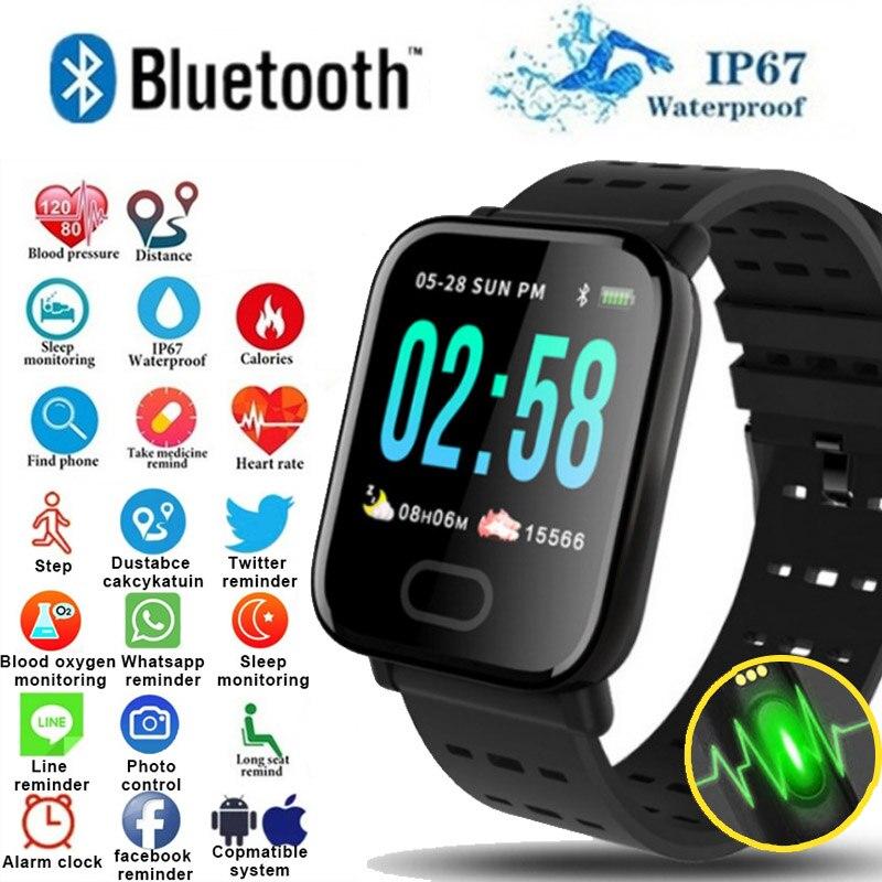 A6 Inteligente Pulseira reloj inteligente Tela Colorida pulsometro ritmo cardi smartband Rastreador De Fitness Monitor de Freqüência Cardíaca À Prova D' Água