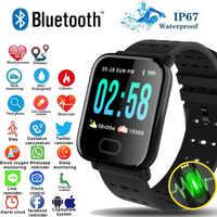 Pulsera inteligente A6 pantalla de Color reloj inteligente pulsometro ritmo cardi impermeable rastreador de ritmo cardíaco Monitor smartband