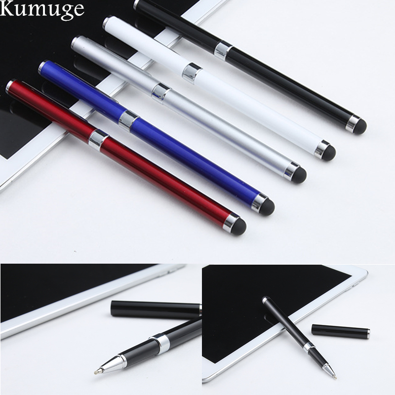 2-in-1 Capacitive Touch Screen Stylus Pen And Ball Point Pen For IPad Air 2/1 Mini 1/2/3/4 IPhone 8 7 Smart Phone Tablet PC Pen