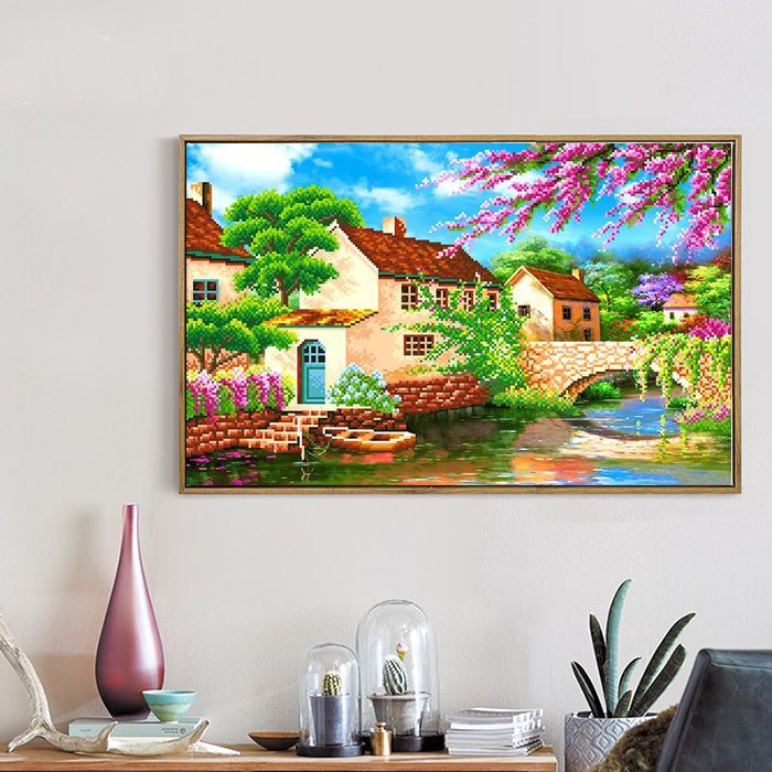 5d diy diamond painting Landscape Villa embroidery with beads diamond pattern needlework picture of rhinestones Sets home decor
