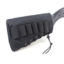 Tactical Buttstock Cheek Bag Rest with 6 Shots 12 20 Gauge Shotgun Shell Holder Hunting Ammo Case