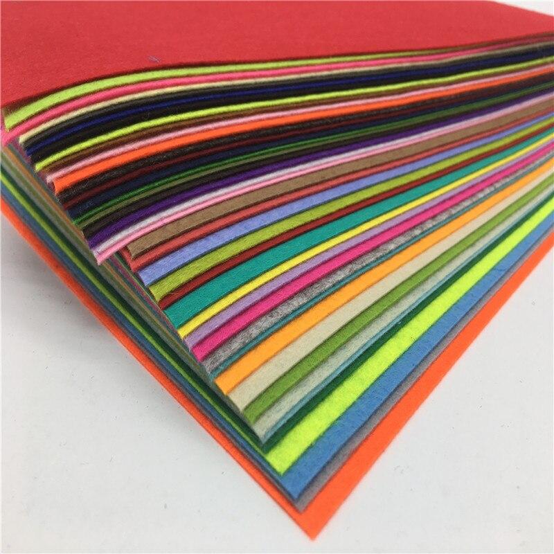 Фетровая ткань из полиэстера, 40 шт./компл., 40 цветов|polyester felt fabric|felt fabricfabric cloth | АлиЭкспресс
