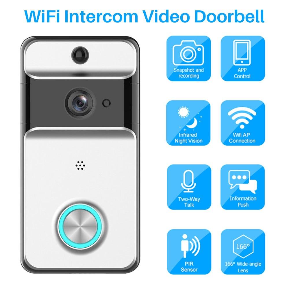 Caméra sans fil WiFi vidéo sonnette IP sécurité à domicile Audio bidirectionnel alimenté par batterie APP contrôle Via iOS Android téléphone