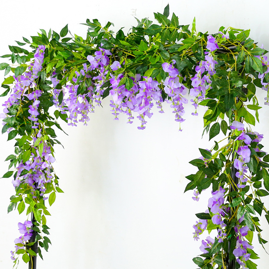 2M Wisteria Artificial Flowers Fake Plants For Wall And Indoor Decoration 5