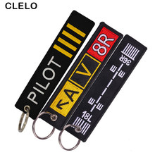 CLELO Embroidery Luggage Tag label Fashion Travel bag tag With Key Ring Special Gift for Flight Crew Aviation Lover 3pcs/lot(China)