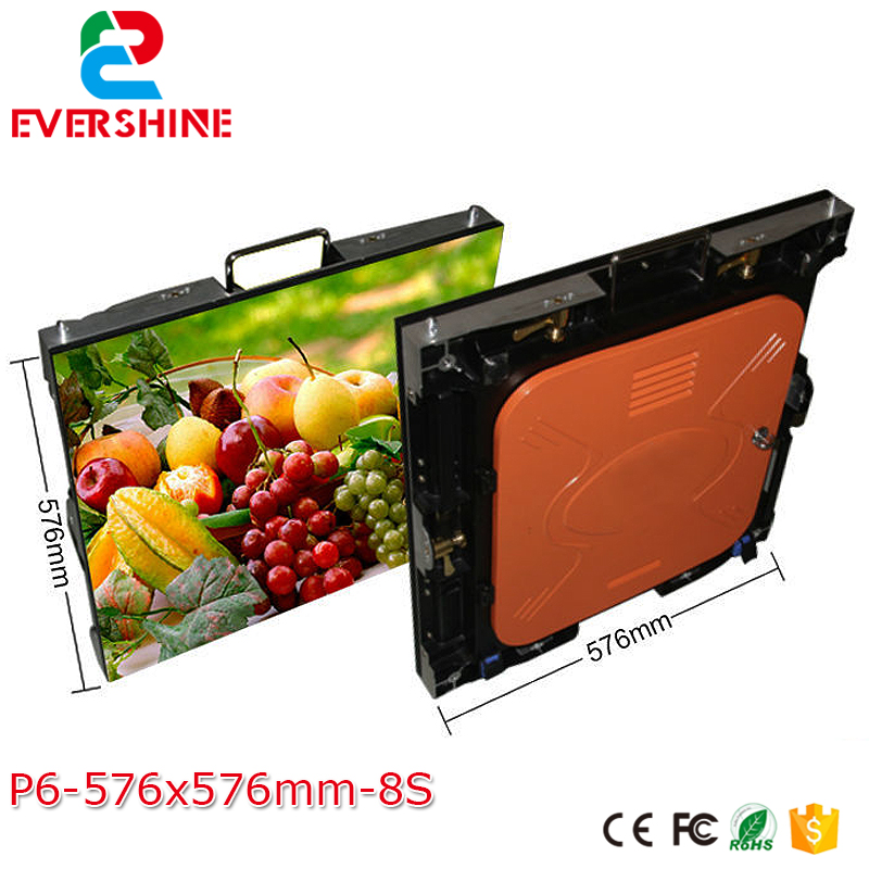 China Die Casting Aluminum 576x576mm outdoor Rental LED Display Screen Wall Save Energy Hire LED panel Stage P6 Paniel