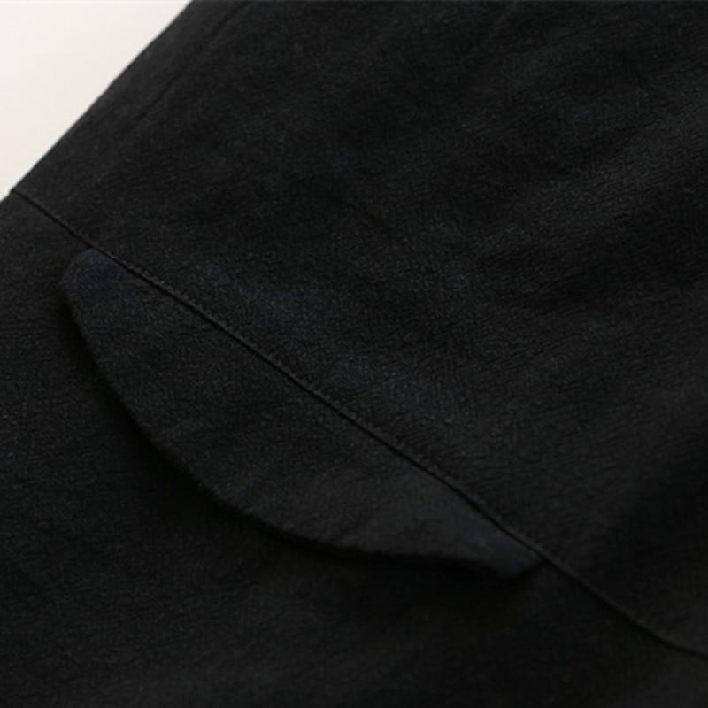 linen Solide Noir Poitrine 2018 Unique Couleur Femmes Manteaux Col Lâche Hiver Parkas Coton Occasionnel Johnature Nouveau Lin Long Support SFUqq