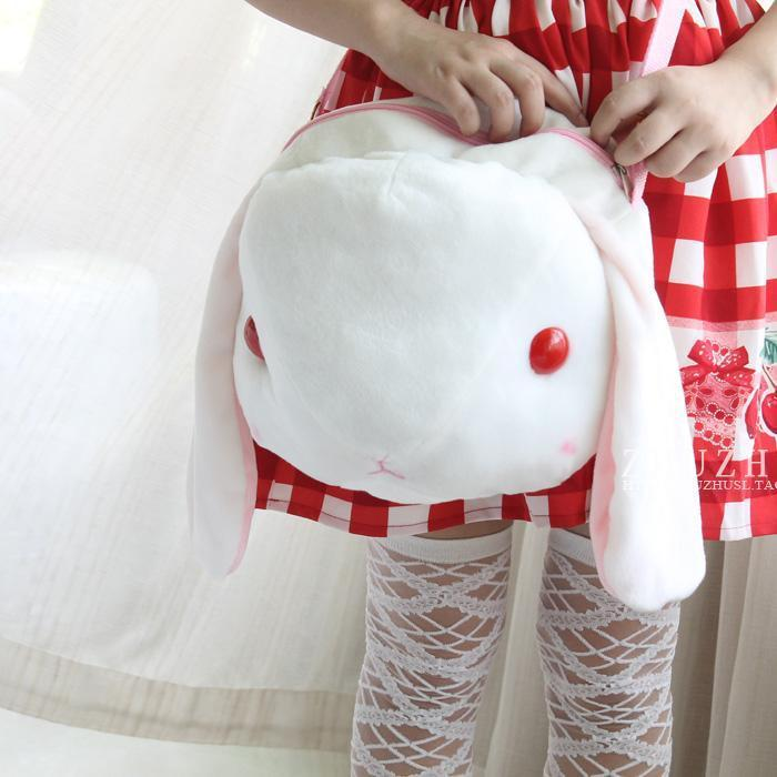 Amo Amuse Lop-ear Rabbit Shoulder Bag School Bag Lolita Cute Soft Plush Toys rabbit lop english lop lolita style kawai quality plush bag cartoon shoulder bag anime toy best gift for children and girls