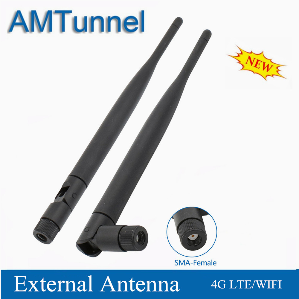 2pcs/pair 2.4GHz WiFi Antenna 4G LTE Antenna 5dBi WLAN Router Antenna RP-SMA Female For Huawei TP-LINK ZTE Routers Modems