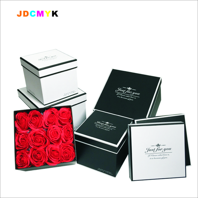 3pcs/set square florist packing flowers gift box,wedding party decoration box christmas gift packing box Valentine's day boxes