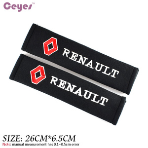 Image 3 - Car Styling Seat Belt Cover Case For Renault Megane 2 Duster Logan Captur Clio Laguna 3 Fluence Cotton Accessories Car Styling