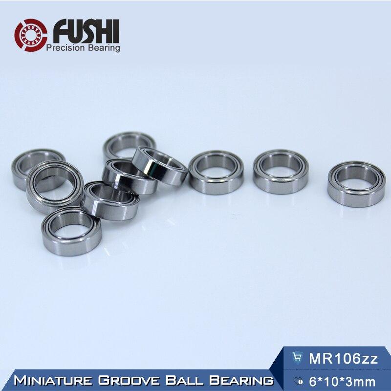 MR106ZZ Bearing ABEC-5 (10PCS) 6*10*3 mm Miniature MR106Z Ball Bearings MR106 ZZ L1060ZZ gcr15 6326 zz or 6326 2rs 130x280x58mm high precision deep groove ball bearings abec 1 p0