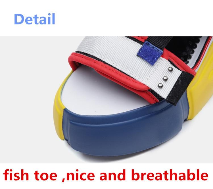 SWONCO Women's Sandals 2019 Summer High Heels Sandals For Women Chunky Sandal Womens Wedge Platform Shoes Casual Summer Sandal