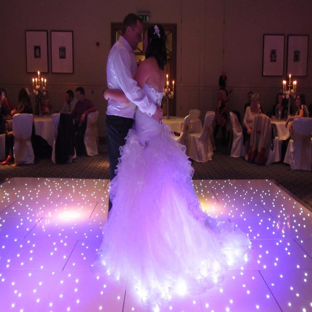 14*14 Feet Specialist LED Effect Starlit Dance Floors Sparkling White Dancefloor White Flashing Dance Floor For Sale