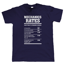 Mechanics Rates Mens Funny T Shirt - Gift for Mechanic Dad Him Grandad Harajuku Tops t shirt Fashion Classic Unique
