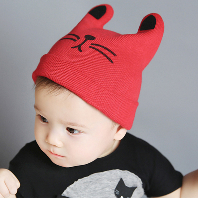 Baby skullies 1-24months baby beanies boy girl ears hat cute baby cap  Winter Cartoon 818682a7314
