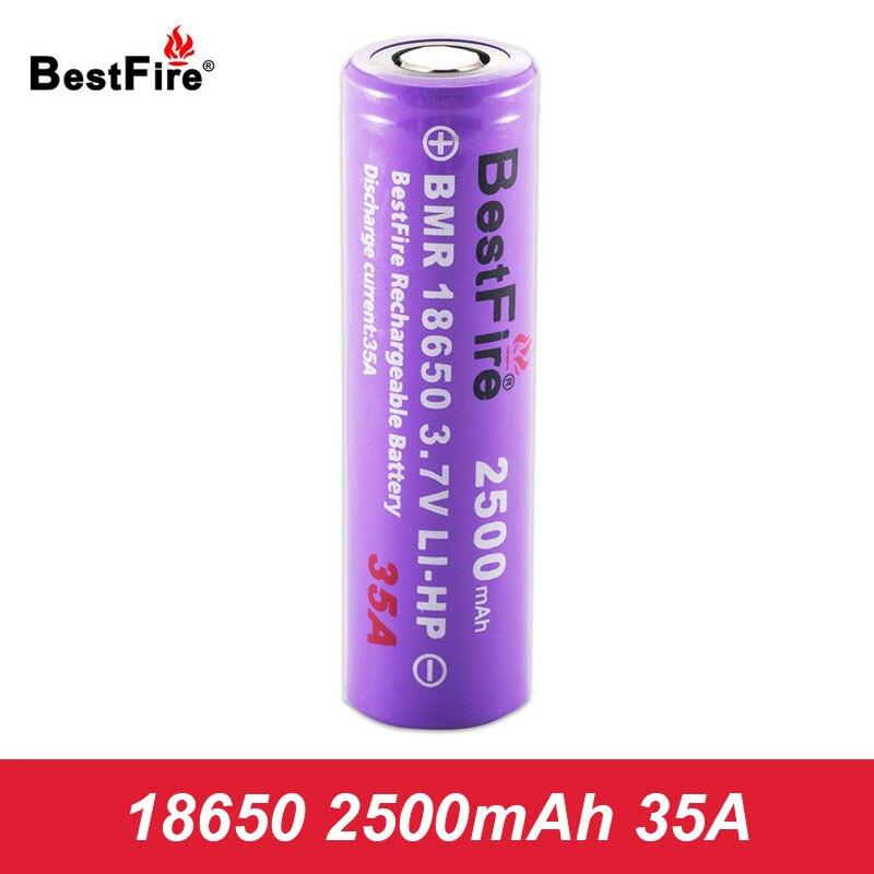Bestfire 18650 Battery Vape E Cigarette Rechargeable Battery 2500mAh 35A for Joyetech Cuboid Mini Kit VS New INR18650 D123