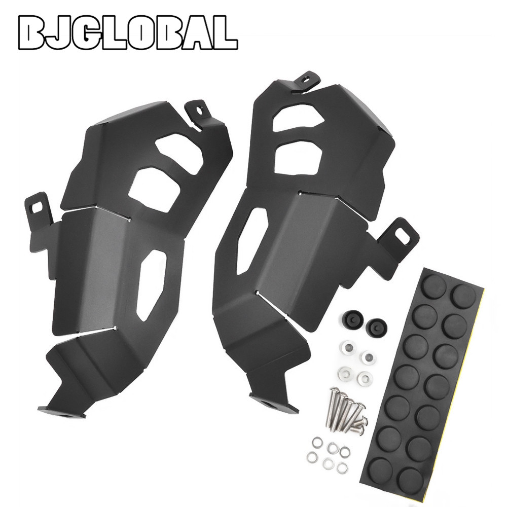 BJGLOBAL Motorcycle Engine Cylinder Head Guard Protector For BMW R1200GS Water Cooled ADV WC 2014-2017 Black Color немецкий мотоцикл bmw r 12 6142