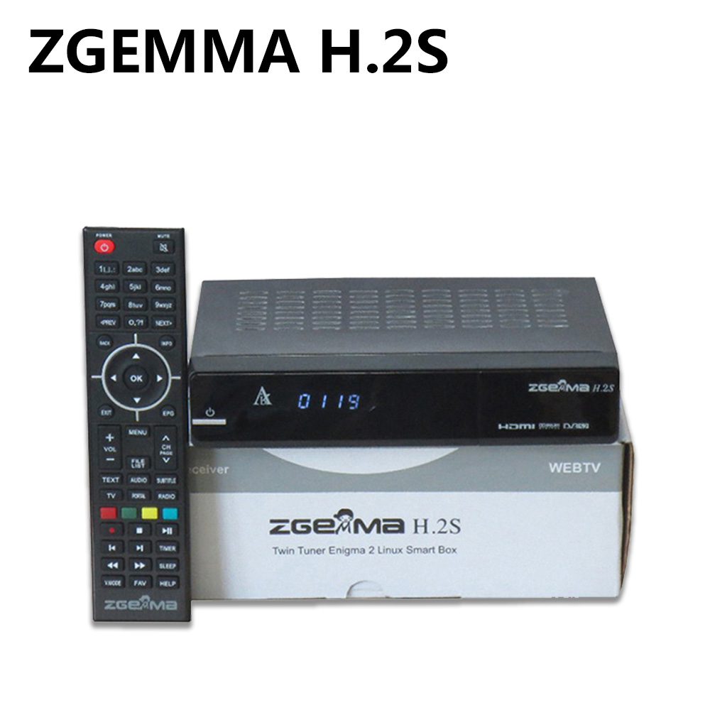 10Pcs ZGEMMA H.2S Twin Tuner DVB-S2 + DVB-S2 Dual Core Satellite Receiver Enigma 2 linux OS 2000DMIPS CPU BCM7362 Set TV Box 10pcs zgemma star i55 support satip iptv box bcm7362 dual core mainchipset 2000 dmips cpu linux enigma 2 hdmi connection