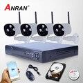 2mp anran new 8ch nvr 2 tb hdd 1080 p vigilância por vídeo sem fio Câmera IP WIFI CCTV Sistema De Home Segurança Matriz IR Monitor
