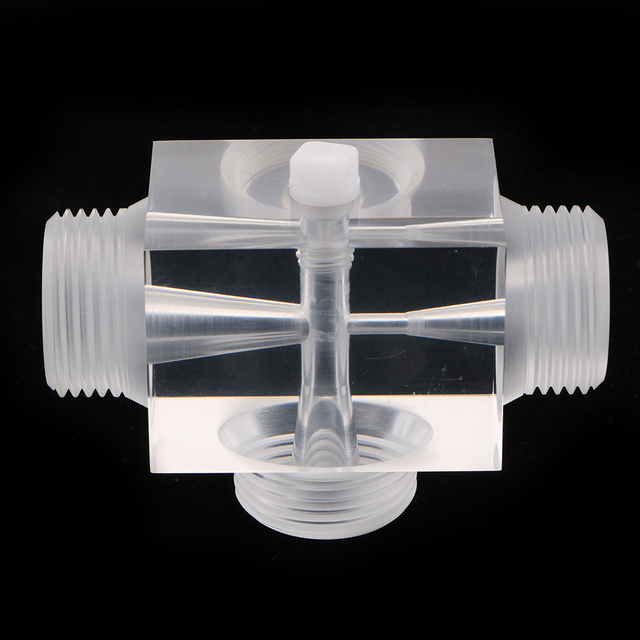 Jet Beluchter Van Venturi Pulsator Injector Voor Water Behandeling Farmaceutische Kit 60X43X43 Mm Gemaakt Van Plexiglas