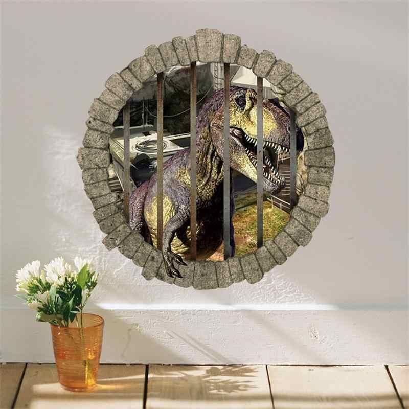 3D отверстие мультфильм мальчик вентиляторы любовь подарок динозавр Live In Park номер Наклейка на стену наклейка домашняя Настенная Наклейка для детской комнаты Декор наклейки