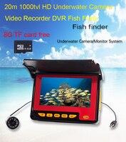 4.3 дюйма ЖК дисплей монитор 20 м кабель под водой Рыбалка DVR Регистраторы Камера Рыболокаторы с запись и функции телефона