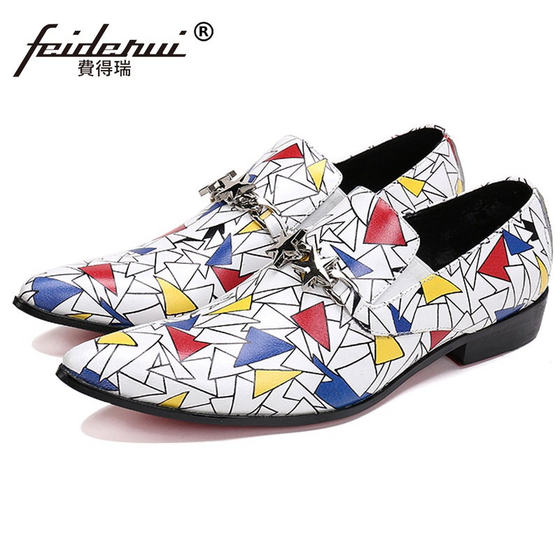 Plus Size Luxury Pointed Toe Slip on Man Bridal Loafer Shoes Genuine Leather Height Increasing Wedding Party Men
