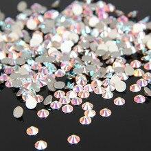 1440 шт./упак. SS3-SS12 кристально чистый AB , не исправление Flatback стразами ногтей Rhinestoens для ногтей 3D ногтей украшения драгоценные камни