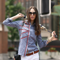 Veri Gude 2014 Autumn Women S Popular Full Sleeve Cotton Shirt