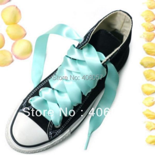 Light green satin ribbon shoelace 2CM width 25x29 2cm 165230